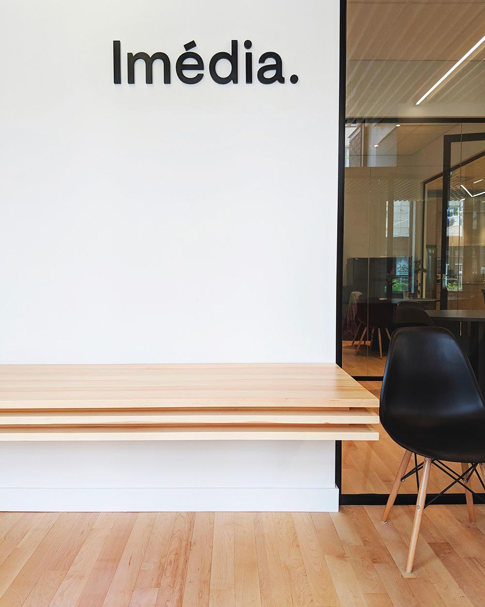 Les bureaux d'Imédia, firme créative.